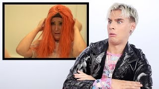Hairdresser Reacts to Jenna Marbles Making a Wig