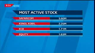 Most active stock: Mobile phone provider, Safaricom at 5.60M shares