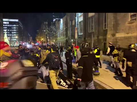 WARNING – GRAPHIC CONTENT: Right wing and anti-Trump protesters clash in D.C.