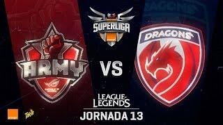 ASUS ROG ARMY VS DRAGONS | Superliga Orange J13 | Partido 2 | Split Verano [2018]