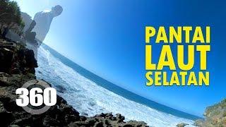 360° Penampakan Pantai Selatan sebelum gelombang ombak viral - Explore Jogja - Gunung Kidul - VR 4K