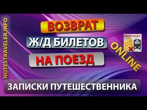 Возврат жд билетов онлайн в Украине