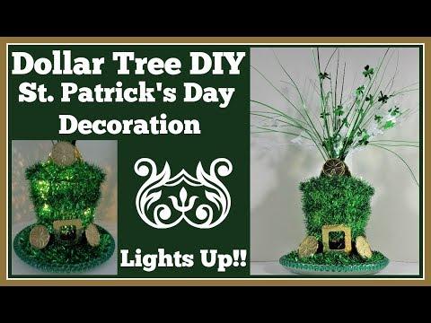Dollar Tree Diy St  Patrick's Day 🍀 Decoration Lights Up