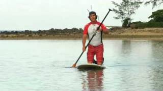 preview picture of video 'Teva tip- standing up on paddle board for first time'