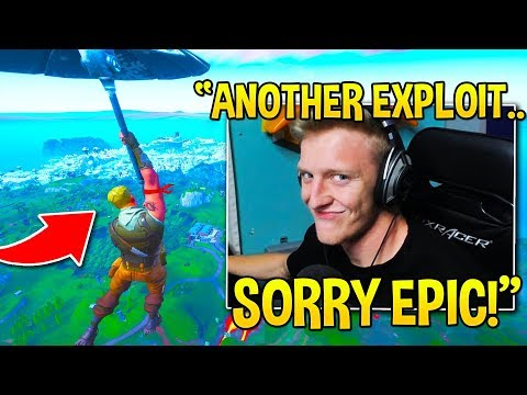 "TFUE *SHOCKS* EVERYONE SHOWING *NEW* ""INFINITE GLIDER"" EXPLOIT! - Fortnite Moments"