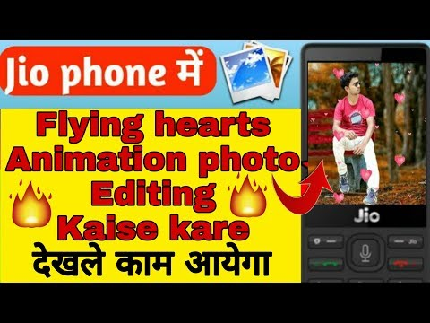 Download Jio Phone Me Flying Hearts Animation Photo Editing Kaise