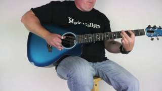 Rainsong P14M Parlor Guitar in Marine Burst | The Music Gallery