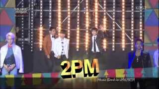 [HD] 130319 2PM ღ Opening Stage ~ Introduction [Music Bank in Jakarta]