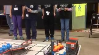 February 25, 2017 Tournament at Fall River Elementary – Qualifying Match with Fall River Elementary School's Team 10884C (The Electronix)