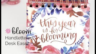 Bloom Daily Planners® Inspirational Perpetual Desk Easel, Hand-lettered