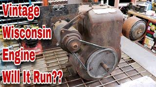 Vintage Wisconsin Engine - Will It Run??