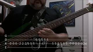 U2 - Beautiful Day (Bass Cover with Tabs)