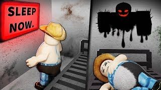 A disturbing Roblox hotel room...
