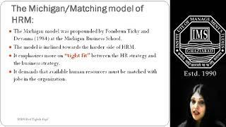 models of HRM