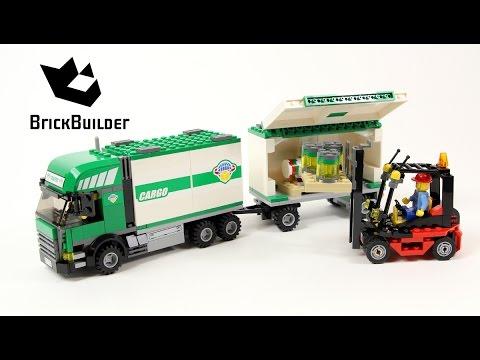 Vidéo LEGO City 7733 : Le camion et son chariot élévateur