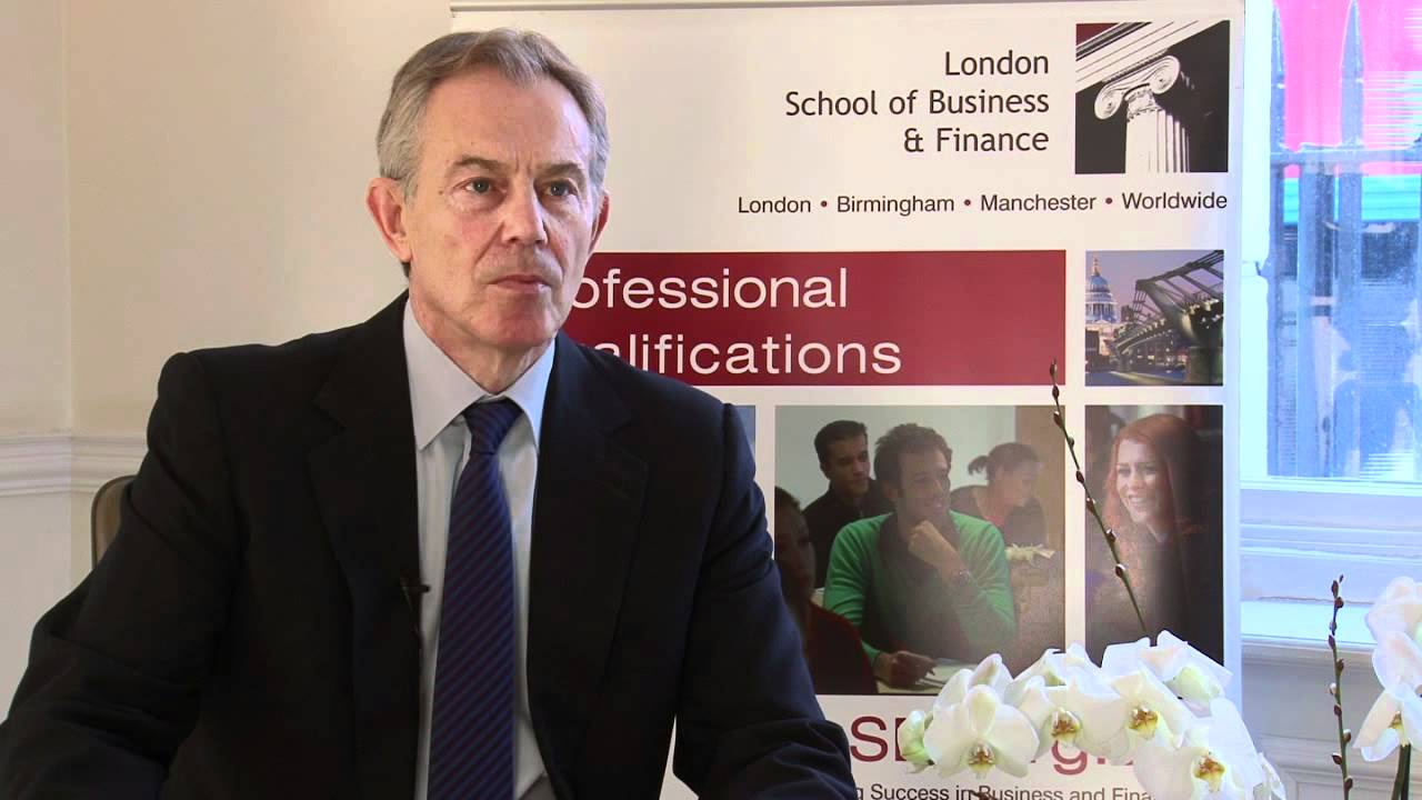 Former UK Prime Minister Tony Blair speaks exclusively to LSBF