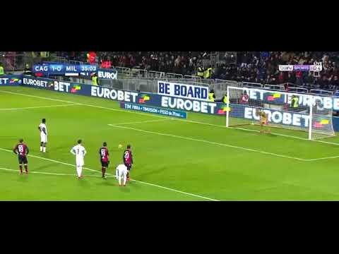 AC Milan vs Cagliari 2-1 Goals and Highlights