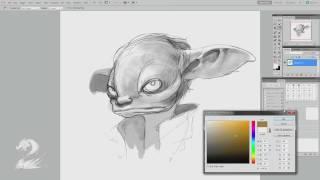 Guild Wars 2 -- Drawing an Asura with Matthew Barrett