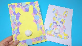 Easy Easter Bunny Card Craft | Easter Crafts For Kids