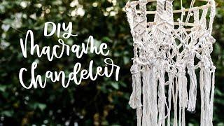 DIY Macrame Chandelier (3 Basic Knots + Embroidery Hoops!)