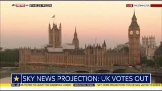 Sky News HD | UK EU Referendum 'UK votes to leave EU' June 2016