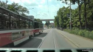 Prague: Tram line 7 on map and in driver cab