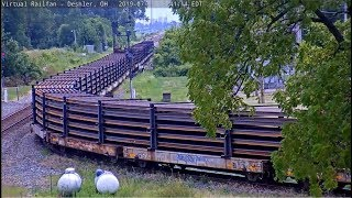 AMAZING!   1/4 MILE CWR-Continious Welded Rail bending like cooked Spaghetti!