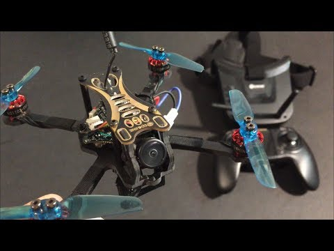 Test Flight  Eachine Novice-II 1-2S 2.5 Inch FPV Racing Drone