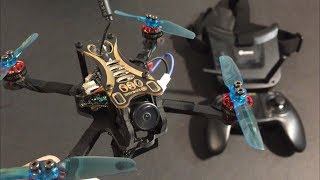 Test Flight Eachine Novice-II 1-2S 2.5 Inch FPV Racing Drone