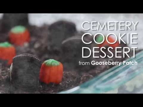 How to Make Spooky Cemetery Cookie Pudding