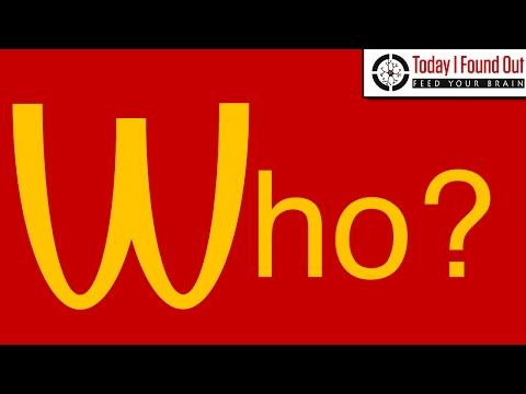Who is McDonald in McDonald's Restaurant?