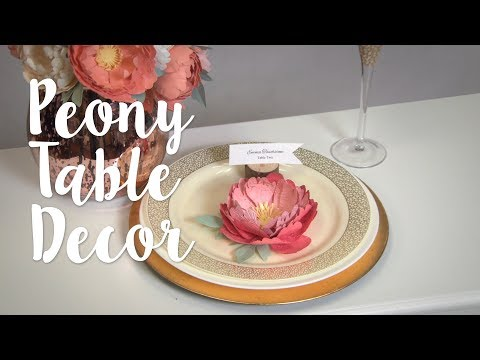 How to Make Textured Peony Table Decor - Sizzix