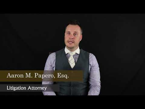 video thumbnail Aaron M. Papero Litigation Attorney South Florida