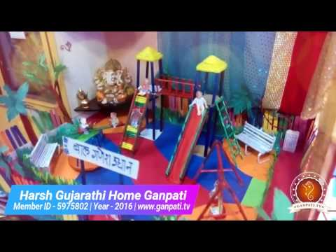 Harsh Gujarathi Home Ganpati Decoration Video