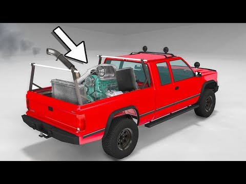 GIANT BUS ENGINE IN NORMAL TRUCK! BEST BUGGY EVER & MORE! - BeamNG Drive Mods
