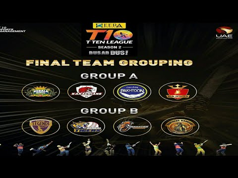 T10 cricket League 2018 groups | T10 League draft 2018  | T10 League schedule date 2018