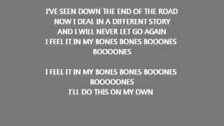 Young Guns- Bones (Lyrics on Screen)