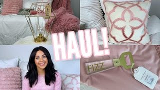 HOME DECOR HAUL! T.J.MAXX, MARSHALLS, HOMEGOODS! LIGHT PINK AND GOLD DECOR!