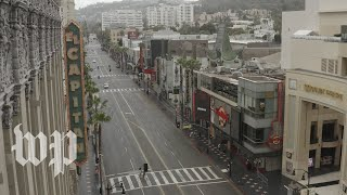 Watch drone video of Los Angeles as coronavirus shuts down the city
