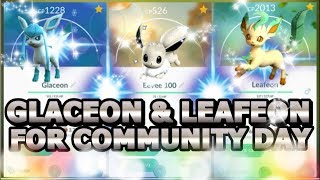 Leafeon  - (Pokémon) - SHINY LEAFEON & GLACEON IN POKEMON GO FOR EEVEE CD?   ALL EEVEE EVOLUTION NAME TRICKS