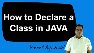 How to Declare a Class in JAVA (Hindi)
