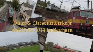 preview picture of video '☆☆☆ Güter & Personenverkehr am 26.10.14 in Sachsen ☆☆☆'