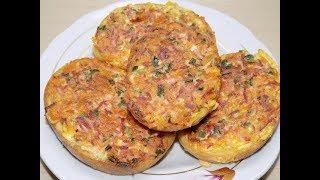 Волшебные и вкусные горячие бутерброды//Горячие бутерброды на завтрак//Бутерброды по вкусу как пицца