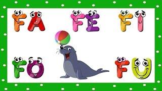 Vídeo Educativo Infantil   Alfabetização Fa Fe Fi Fo Fu