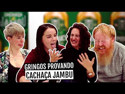 GRINGOS PROVANDO CACHAÇA DE JAMBU