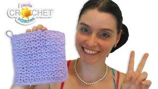 HDC V Stitch Dishcloth Crochet Pattern & Tutorial