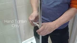 Primo Chrome Tempered Glass Sliding Door Installation Instructions