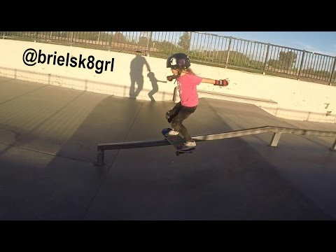 Briel 5 Year Old Girl Rips on a Skateboard