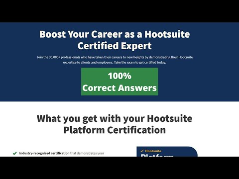 Hootsuite Platform Certification Exam Answers Updated 2021 ...