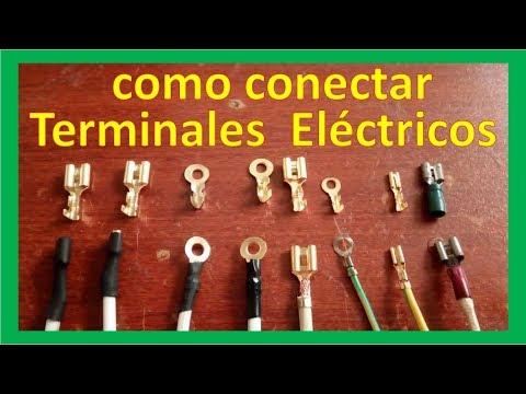 como conectar (ponchar - crimpear - fijar - colocar) terminales eléctricos